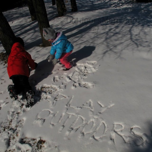 kids playing outside in snow