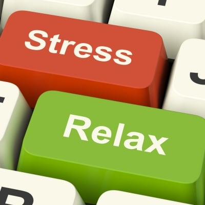 Red stress and green relax computer keys